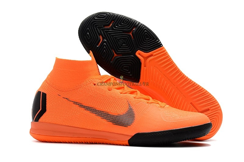 2019 Nouveaux Nike SuperflyX 6 Elite IC Orange Qualité 100%
