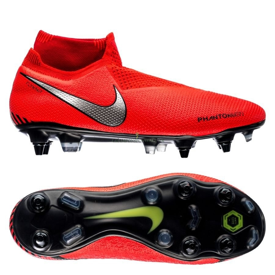 2019 Nouveaux Nike Phantom Vision Elite DF SG PRO Anti Clog Game Over Rouge Qualité 100%